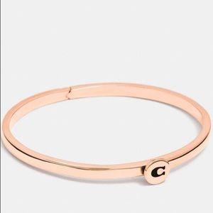 Coach NWT Rose Gold C Bangle Bracelet
